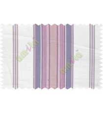 White blue purple lines main cotton curtain designs